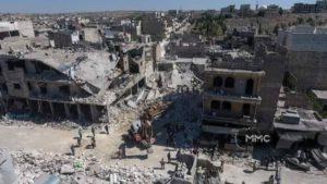 Multiple Airstrikes Target Marketplace in Idlib Syria
